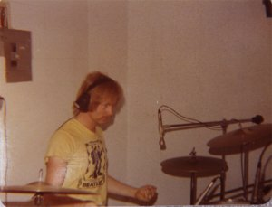 Kim on drums again