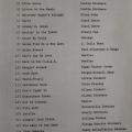 Earlier Song List