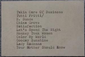 Newer Song List