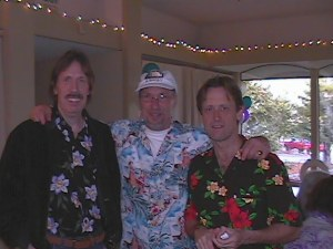 Ken and Mick with friend in 2002