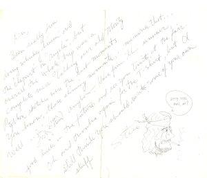 Steve Elliott note to Ken Wiles