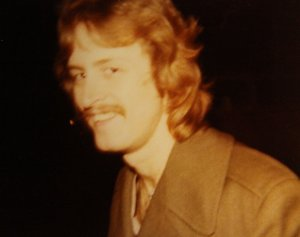 Mick with permanent and mustache