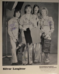 Autographed Photo of Silver Laughter - Mick, Jon, Ken and Kim