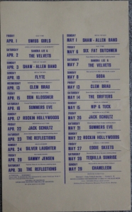 Blue Moon Calendar Apr. May 1977