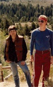 Jon and Kim hiking