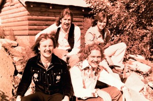 Silver Laughter 1976 - from the top: Ken and Mick, Jon and Paul below