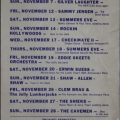 Blue Moon Calendar Nov. 1977