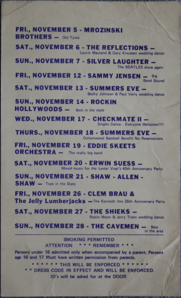 Blue Moon Ballroom Flyer A Silver Laughter One Night Job The Silvers