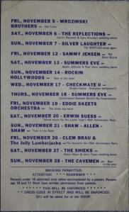 Blue Moon Calendar Nov. 1977