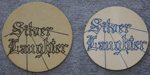 Silver Laughter Coaster and sticker