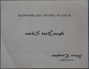 Scrambled word sticker