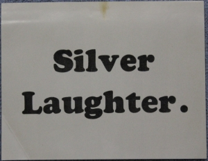 Silver Laughter Sticker