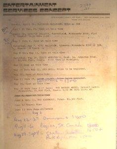 1977 Booking Schedule 04-08