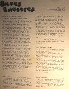 Newsletter - 1978 - December - page 1