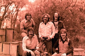 Silver Laughter 1976 - Top: Mick, Paul and Carl. Below: Ken and Jon