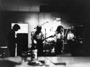 Silver Laughter around 1973 - john Carstensen, Jon Ludtke, Kim Ludtke in the bright lights, Steve Elliott and Denny Walton