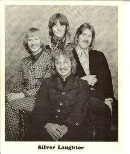 Silver Laughter 1976 - clockwise: Kim, Mick, Ken and Jon in front