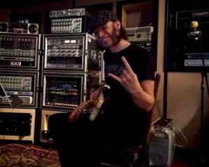 Ricky Silver in the studio