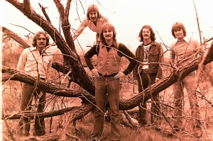 Silver Laughter 1976 - Paul, Ken (in tree), Jon, Carl and Mick