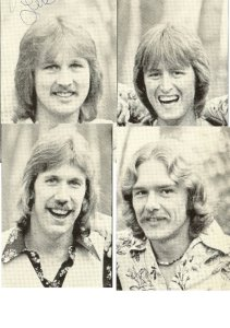Silver Laughter 1977 - Top: Jon and Mick, Bottom: Ken and Paul