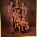 Silver Laughter 1976 - Jon, Ken and Kim standing. Mick Orton seated