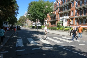 Mick crossing Abbey Road