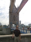 Mick in front of the Tower Bridge