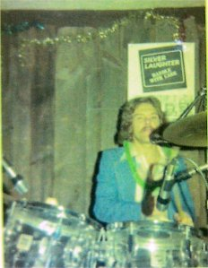 Paul on drums New Year's Eve 1977