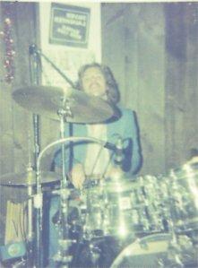 Paul on drums NYE '77