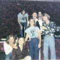 From left Paul and Jon. Top is Mick, Ken, Carl and Kim surrounding one of our friends